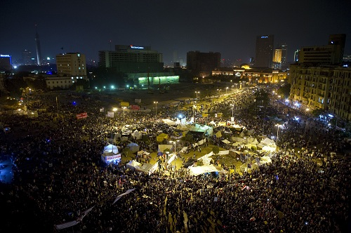 Tens of thousands of Egyptians gather in Cairo's Tahrir square. File photo from November 2011 (AFP)