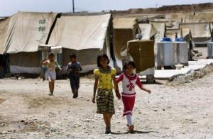 Hundreds of Syrian refugees fled to Iraq since President Bashar Al-Assad's crackdown began last year