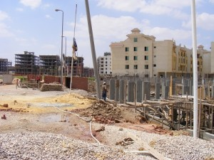 Construction site in the New Minya district