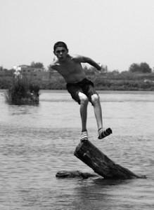Kid having fun. Photo by Hussein Shaaban