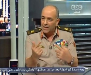 Major General Mohamed Hegazi tells a news program that President-elect Mohamed Morsi will have full executive powers once he is sworn in (Screengrab)