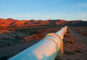 Gas pipeline running from Egypt to Israel AFP