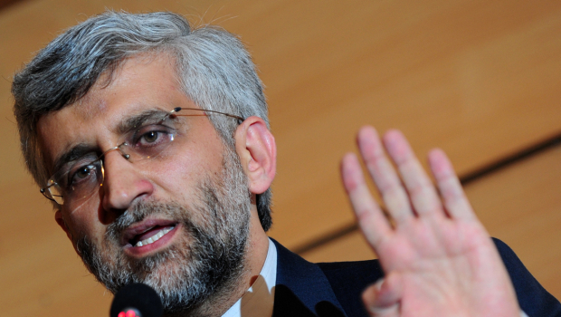 Iran's chief nuclear negotiator Saeed Jalili gives a press conference in Istanbul 22 January 2011 (AFP)