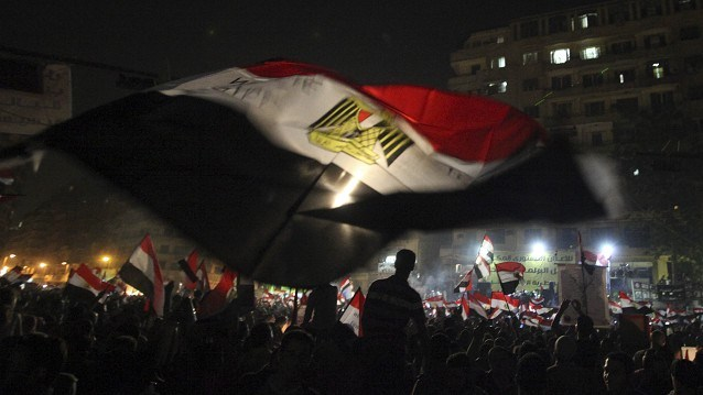 Tahrir square protests. (AP photo)
