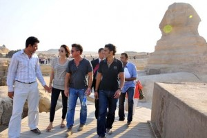 Tourists at the pyramids