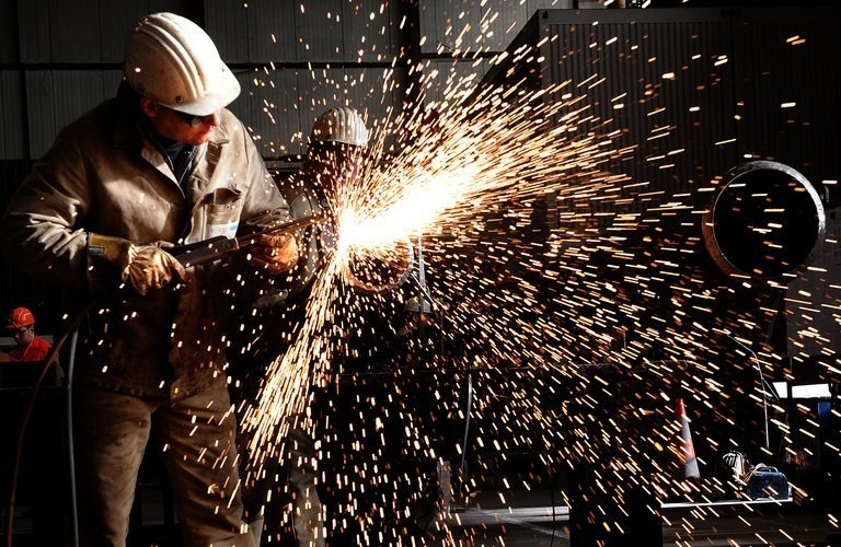 The steel industry is expected to regain strength in the coming period (AFP PHOTO)