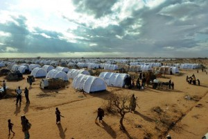 The Dabaab refugee camp, where some 450,000 refugees from Somalia have fled violence (file photo/AFP)