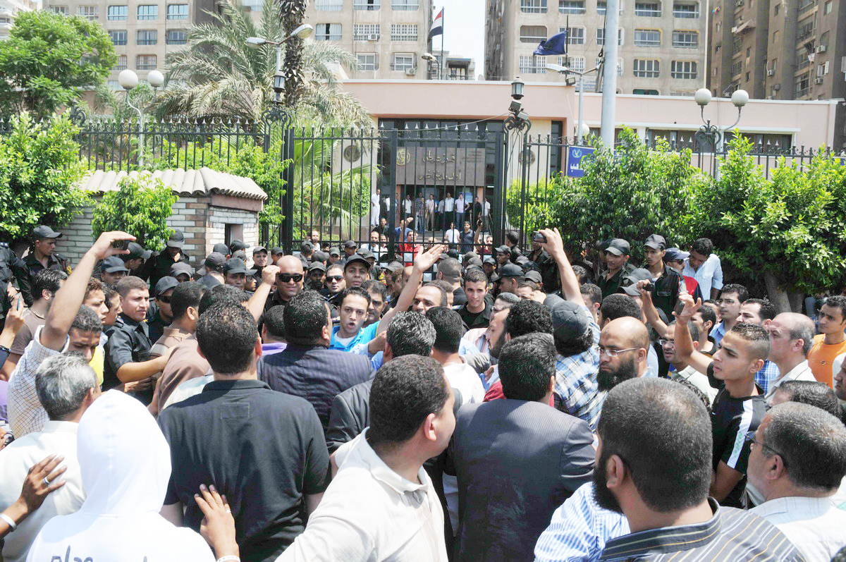 Lawyers protesting in Nasser City on 7 July (File Photo) Hassan Ibrahim/ DNE