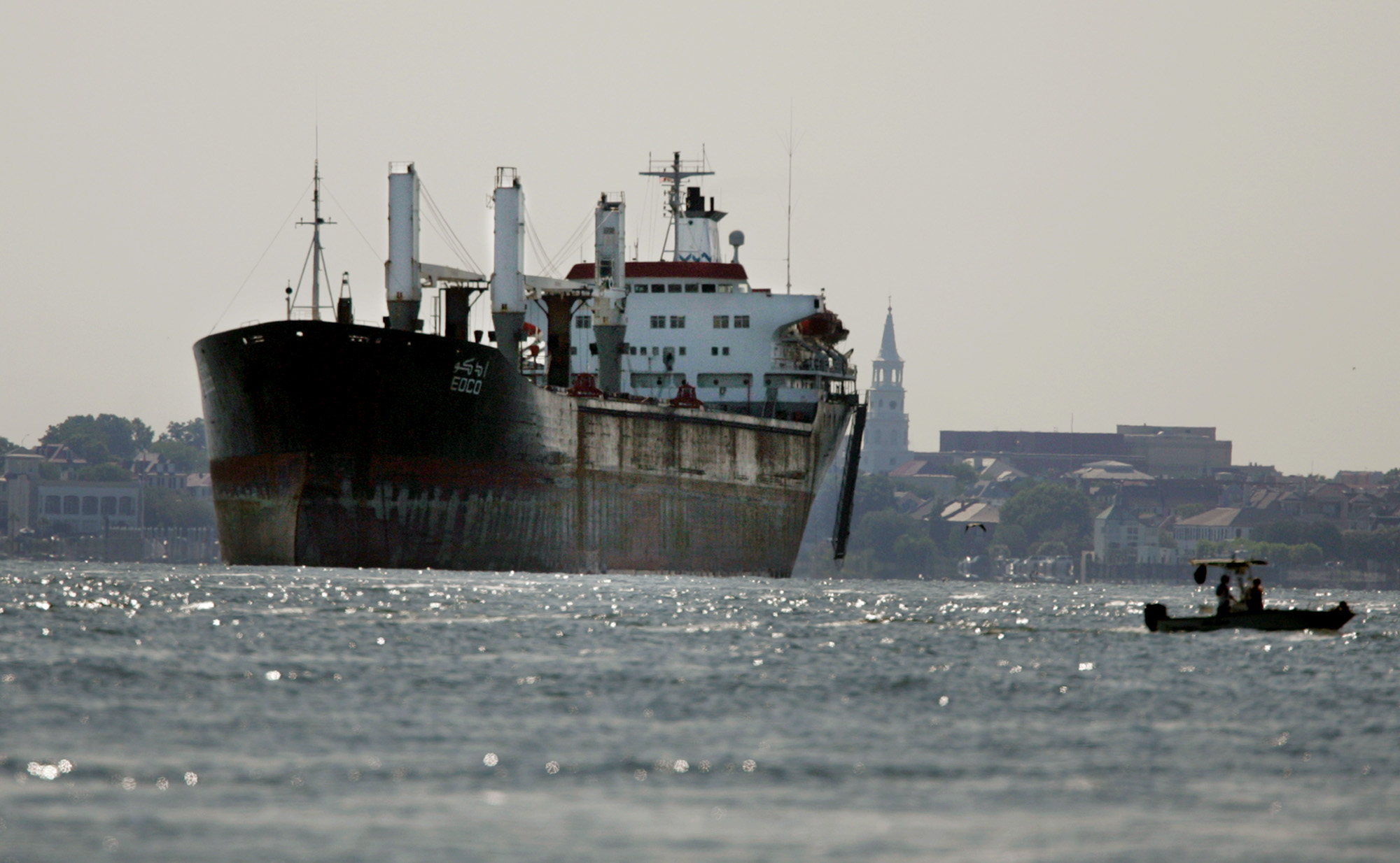 A freighter passes through the Suez Canal (file photo: AFP)