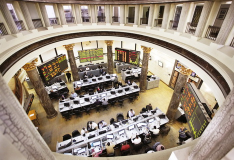 The Egyptian Stock Exchange in session. (DNE PHOTO)