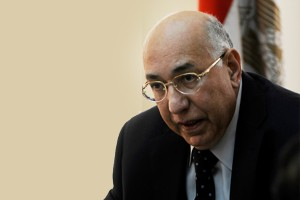 Outgoing Finance Minister Saeed El-Momtaz (DNE PHOTO)
