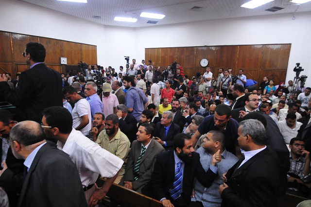 Cairo's Administrative Judiciary Court fills up with lawyers, press and observers (File photo: Hassan Ibrahim)