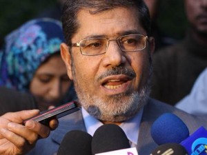 President Morsy speaks at a press conference (File photo / AFP)