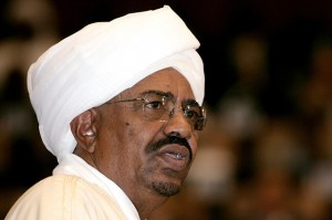 Sudan President Omar Al-Bashir speaks at a press conference (AFP)