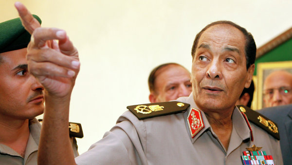 Field Marshal Hussein Tantawy, the head of Egypt's Supreme Council of Armed Forces (SCAF), after denying that he has plans to seek position of defence minister (photo: Amr Nabil | AFP)
