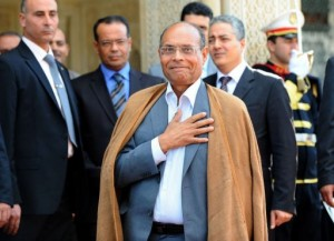 Tunisian President Moncef Marzouki is set to become the first head of state to pay a visit to President Morsy (photo AFP)