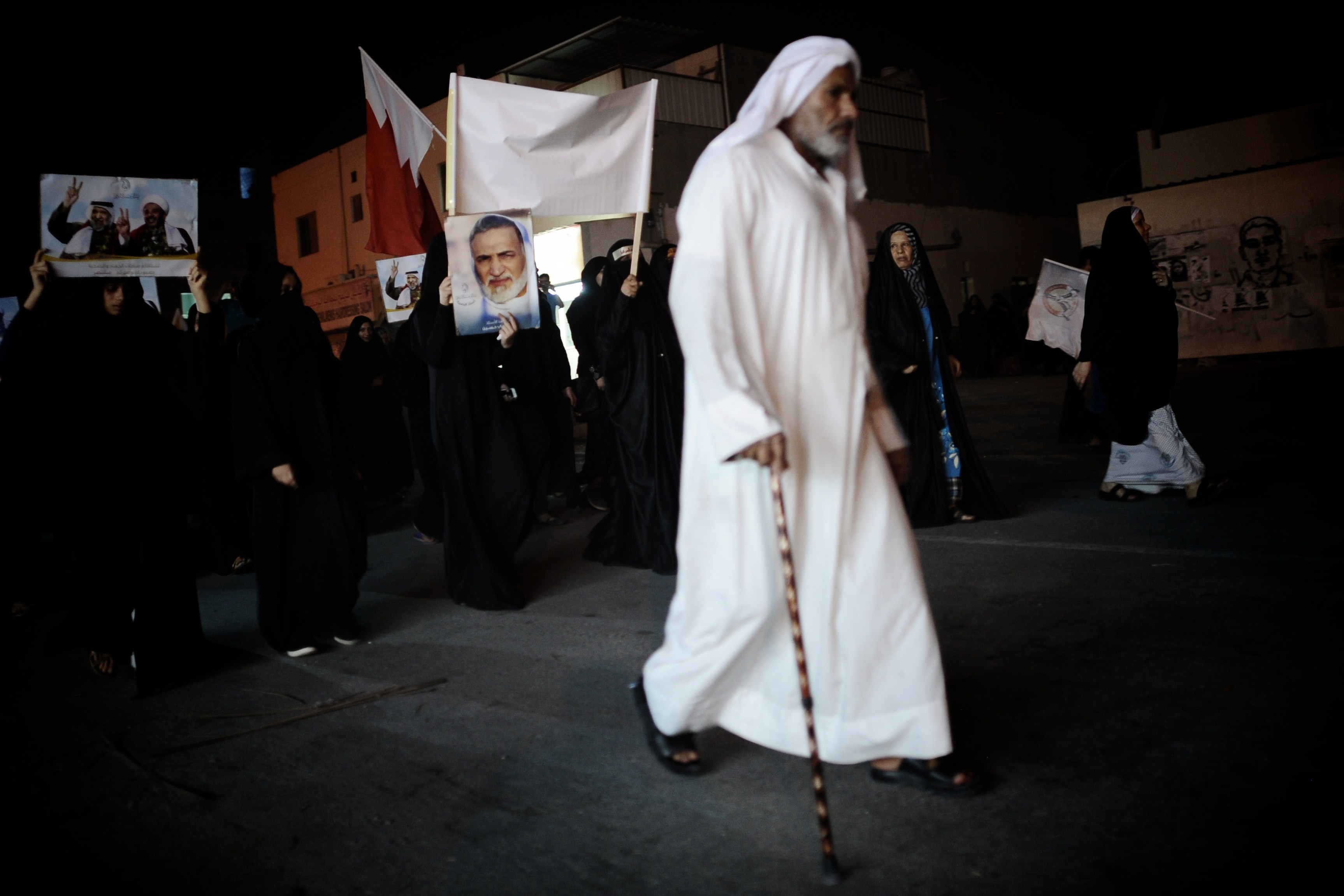 Bahraini Shi'a Muslims take part in an anti-government demonstration in the village of Sitra, South of Manama on 30 July (Photo: AFP /Mohammed Al-Shaikh)