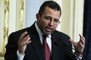 Egyptian Prime Minister Hesham Qandil. AFP PHOTO/GIANLUIGI GUERCIA
