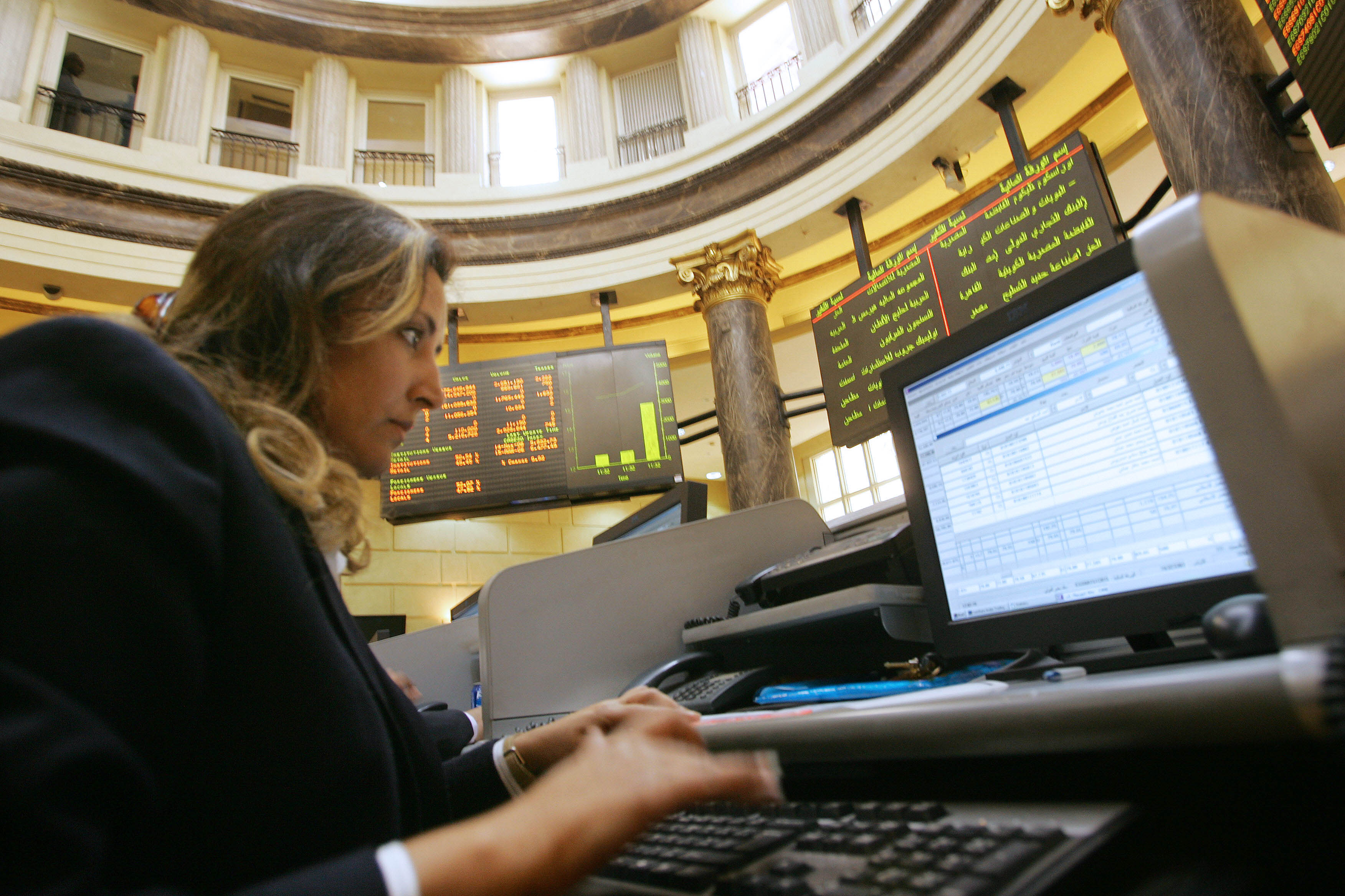 The Egyptian stock Exchange witness first signs of recovery since the beginning of Ramadan (DNE PHOTO)