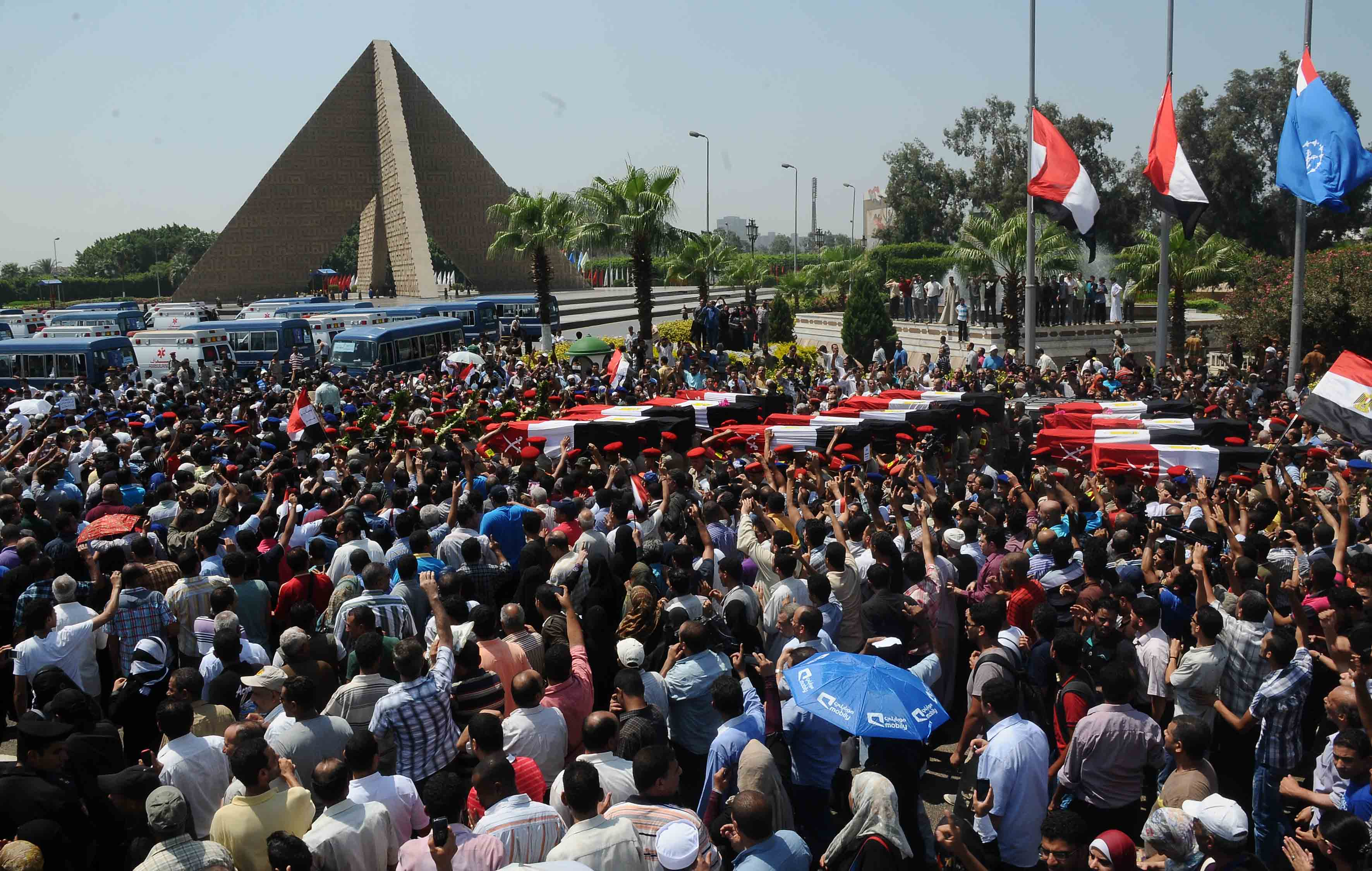 Border guards funeral procession at Naser City turned into a protest - Mohamed Omar