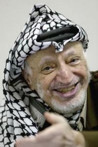 Former Palestinian leader Yasser Arafat AFP PHOTO / PEDRO UGARTE
