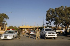 Libyan security guards patrol Benghazi (File photo) AFP PHOTO / Mohammed Abed