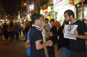 No to sexual harassment event in Downtown Cairo DNE Archive