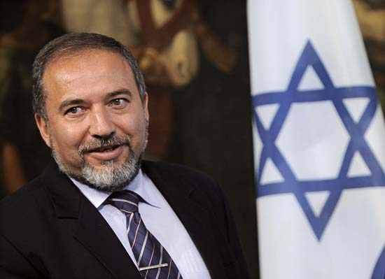 Israel's Foreign Minister Avigdor Lieberman AFP PHOTO / Filippo Monteforte