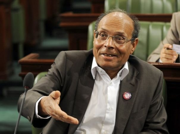 Moncef Marzouki during an assembly meeting (File photo) AFP PHOTO / Fethi Belaid