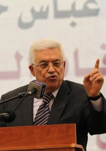 Palestinian Authority President Mahmud Abbas addresses students in the West Bank city of Ramallah on 26 August AFP PHOTO / ABBAS MOMANI