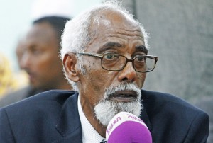 Veteran Somali politician Mohamed Osman Jawari in Mogadishu on 26 August AFP PHOTO / Mohamed Abdiwahab