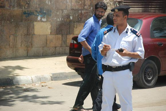 Police officer on duty in sayeda zeinab (File photo) Jasmin Bauomy