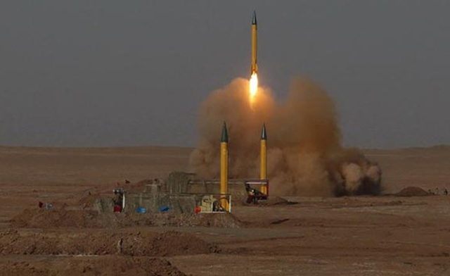 Iran claims that the upgraded version of a short-range ballistic missile uses a new guidance system, increasing their capability to hit both land and naval targets (photo: AFP)