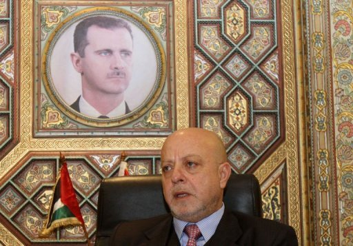 Syrian Minister of Economy and Trade Mohammed Nidal al-Shaar (Anwar Amro /AFP)