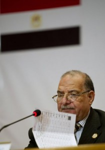 Abdel Moez Ibrahim, former head of the Egyptian Election Commission, holds a press conference in Cairo (File photo) AFP PHOTO / ODD ANDERSEN