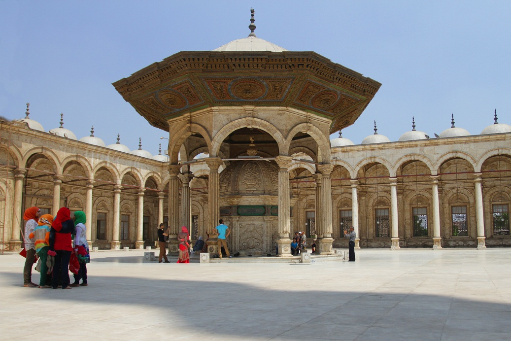 The external courtyard of Mohammed Ali mosque in the Citadel Photo by Rachel Adams