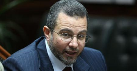 Prime Minister-designate Hesham Qandil me today with his final candidates for his cabinet (file photo: AFP)