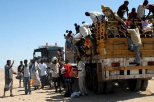 Somali refugees at a UNHCR reception center in Yemen (File photo) AFP PHOTO / Khaled Fazaa