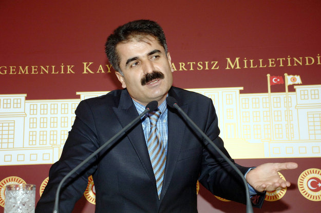 Picture of Huseyin Aygun taken in Ankara on 27 December 2011. The member of the Republican People's Party (CHP) was kidnapped by Kurdish rebels in the east of the country (AFP PHOTO / ADEM ALTAN)