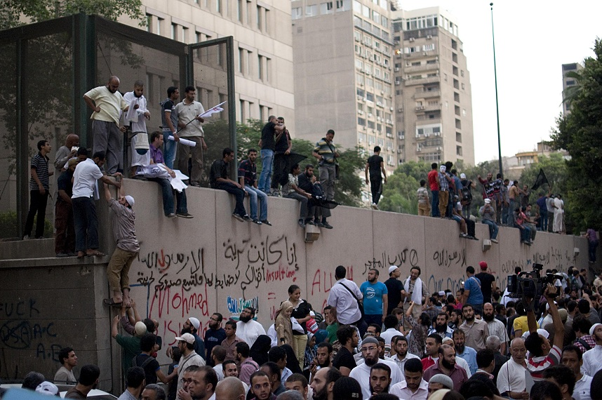 Protests outside US Embassy in Cairo Mohamed Omar / DNE