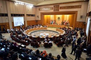 Arab foreign ministers attend a meeting at the Arab League in Cairo AFP PHOTO/KHALED DESOUKI