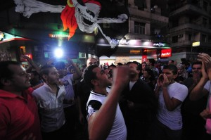 Ultras Ahlawy members protesting Hassan Ibrahim/ DNE