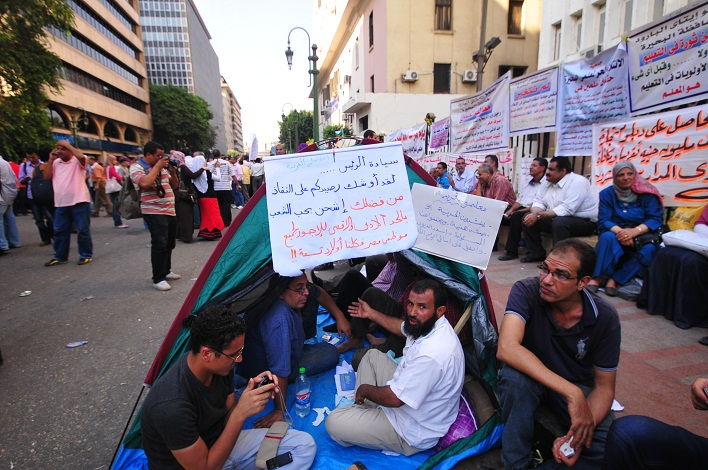 The protesters were demanding contracts and permanent employment. (file photo) Hassan Ibrahim / DNE