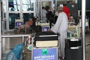 Passengers at Cairo airport Mohamed Omar