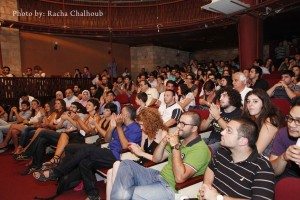 Spectators applaud during the recent 48 Hour Film Festival held in Beirut Racha Chalhoub