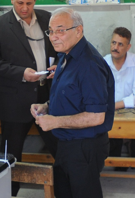 Ahmed Shafiq on presidential polling day (File photo) Mohamed Omar