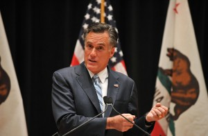 US Republican presidential candidate Mitt Romney speaks to the press in Costa Mesa, California AFP PHOTO / NICHOLAS KAMM