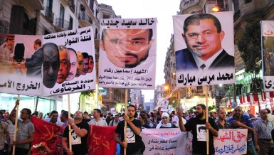 A wide range of political parties joined together to march from Talaat Harb Square Hassan Ibrahim