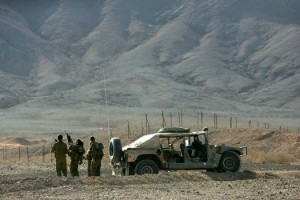 Israeli forces patrol the border region with Egypt (File photo) AFP PHOTO