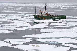 Greenpeace's My Arctic Sunrise ship on an Arctic Ocean expedition on 11 September (File photo) AFP PHOTO / GREENPEACE INTERNATIONAL / DANILE BELTRA